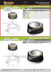 Brake drum FRENKA 03.109.67.13.0, art.