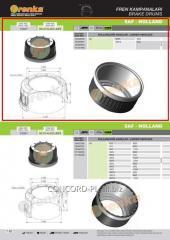 Brake drum FRENKA 1064026000, art.