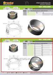 Brake drum FRENKA 1064027000, art.