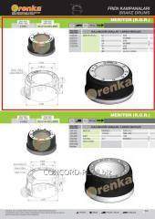 Brake drum FRENKA 21219028, art. 99.014.003.081-FR
