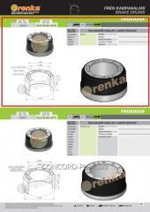 Brake drum FRENKA 1030341, art. 99.014.004.016-FR
