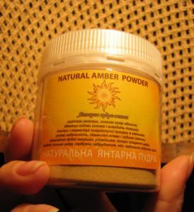 Powder amber