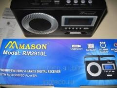 The radio receiver with digital indication and the