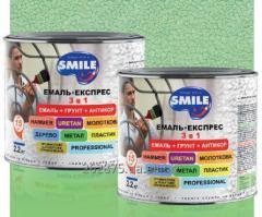 Краска тм Smile эмаль-экспресс молотковая