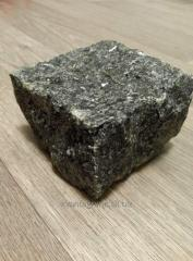 Stone blocks chipped labradorite black