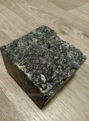 Cobbles sawn-chopped stick of black labradorite
