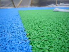 Covering rubber for Rosehill Polymers playgrounds