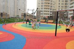 Coverings 11-15 mm, rubber for sports grounds of