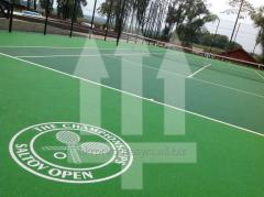 Covering rubber for tennis courts of Rosehill