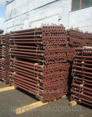 Rack telescopic for a horizontal timbering