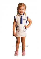 Vestido de deporte para las niñas con una rejilla