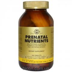 Vitamins for pregnant Solgar, 240 tablets. It is