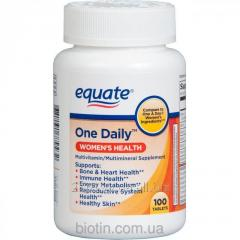 """Multivitamins for women of Equate """"One"""