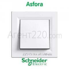 Переключатель 1кл. белый Asfora EPH0400121