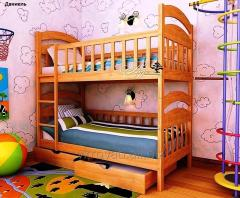 Bed children's Danielle 70*140 (Natural tree)