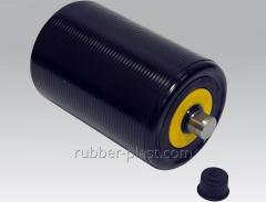 Rubber coated rollers and rubber rings for