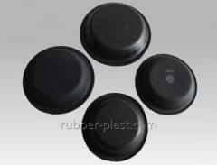 Rubber membranes and diaphragms