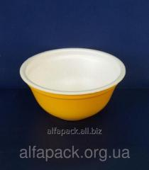 Tureen from the made foam polystyrene of 500 ml,