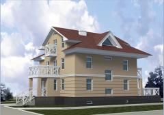 Дома коттеджи жилые, строительство дома