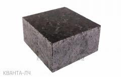 The stone blocks is figured, labradorite (black