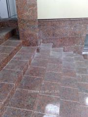 The tile the buchardirovanny length of 600 mm,