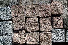 Stone blocks of chipped 100х100х100 mm,