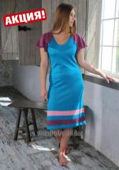 "Dress turquoise with a sleeve ""butterfly"