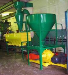 Equipment (complex) for grind of soy meal, soy