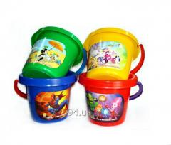 Bucket big with a sticker 4 colors, 12 different