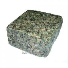 The stone blocks chipped Vasilyevsky facets