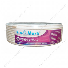 Кабель телевизионный FinMark F690 75 Ом белый 100м