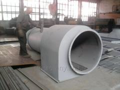 Ventilation of furnaces of roasting also dried (industrial ventilation)