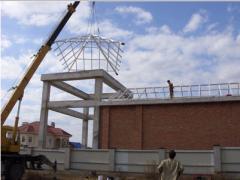 Pavilion metal construction for the pool. Kiev