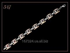 Art 547. A bracelet female silver with a gold