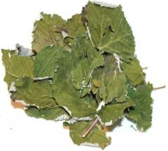 Raspberry leaves dried