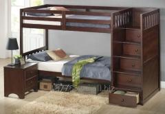 Кровать двухъярусная размер и из дерева под заказ