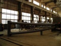 Металлические конструкции: фермы до 24м пролётом;