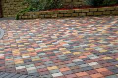 Разноцветная тротуарная плитка