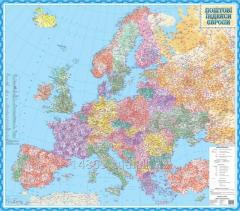 The wall card of indexes of Europe / on squares