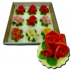 Марципановые букеты роз для украшения тортов цена