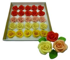 Марципановые розы большого размера для украшения