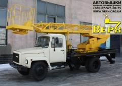 Telescopic autohydroelevator (autotower) AP-17