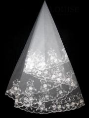The veil embroidered 1,35kh1,35m 0002