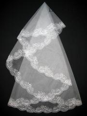 The veil embroidered 1,35kh1,35m 0005