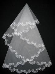 The veil embroidered 1,35kh1,35m 0010