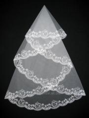 The veil embroidered 1,35kh1,35m 0012