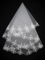 The veil embroidered 1,35kh1,35m 0015