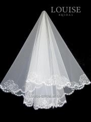 The veil embroidered with payetka 001