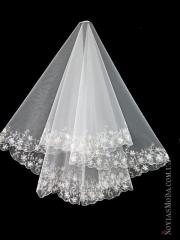 The veil embroidered with payetka 004
