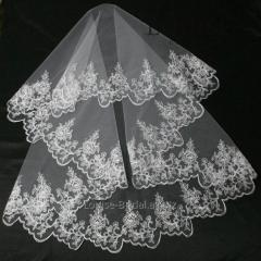 The veil embroidered 3-C
